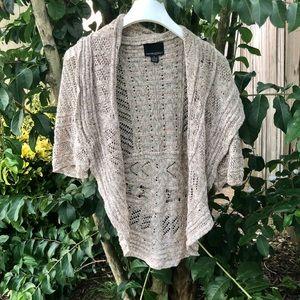 Cynthia Rowley Shrug Cardigan Sweater Tan